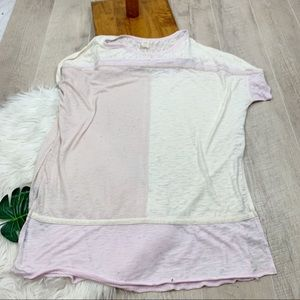 We The Free Burnout Colorblock Oversized Top G3254